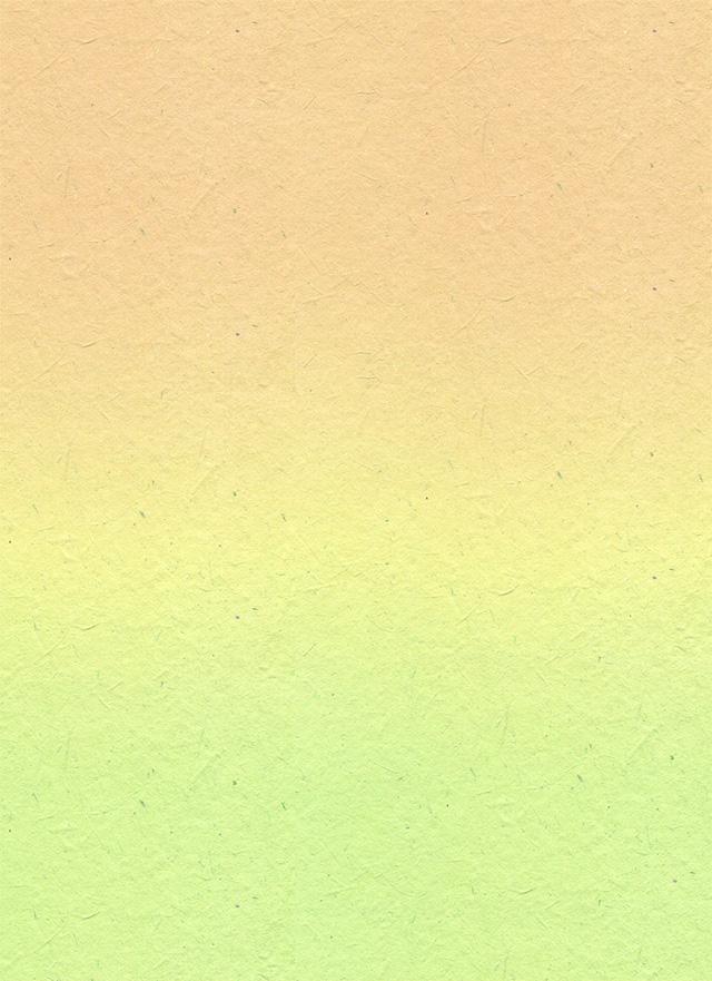 オレンジのグラデーションの和紙の背景素材