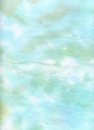 水色の水彩画のようなテクスチャ素材