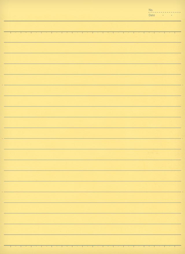 黄色いノートの無料背景素材