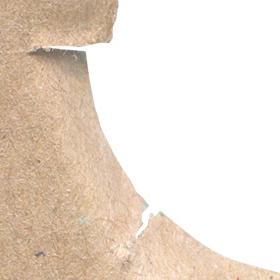 穴の空いたダンボールのテクスチャ素材のサムネイル画像