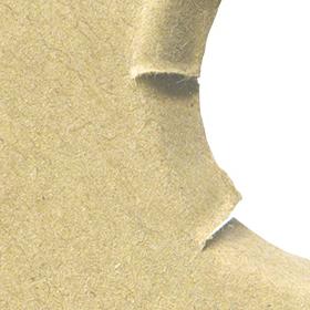 穴の空いたダンボールのテクスチャ素材 2のサムネイル画像