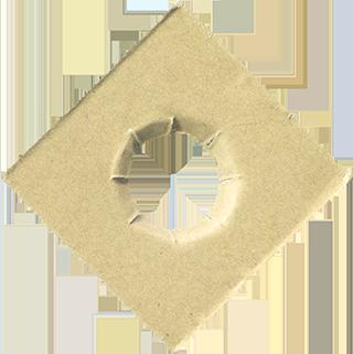 穴の空いたダンボールのテクスチャ素材 2