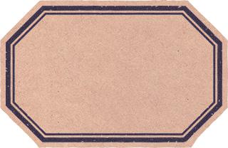 レトロな雰囲気のある六角形のラベル素材 1