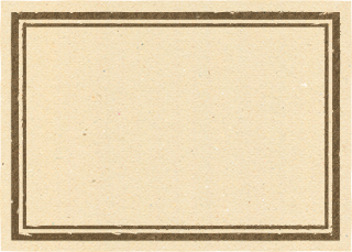 茶色い四角のラベル素材