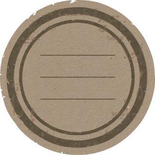 ハンコのような雰囲気の丸型のフリーラベル 2