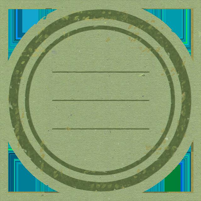 ハンコのような雰囲気の丸型のフリーラベル 3
