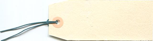 クリーム色のタグのフリー素材