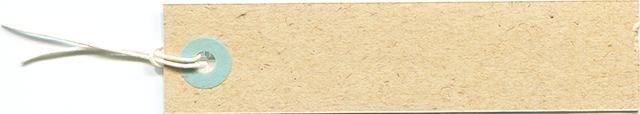 クリーム色のタグのフリー素材 2