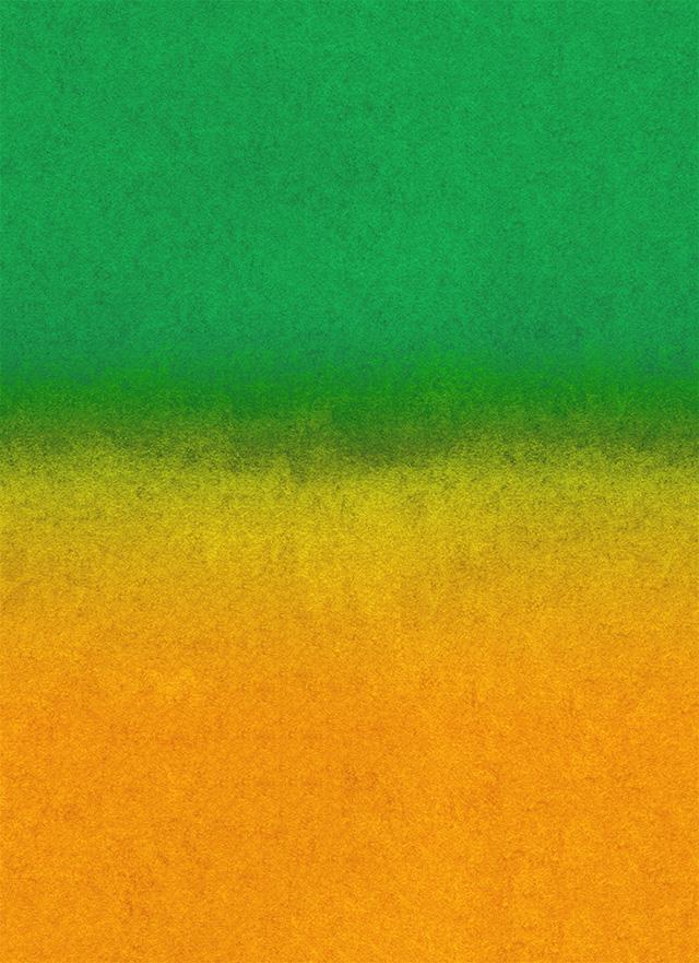 黄色と緑のざらざらしたグラデーション背景素材