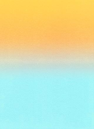 オレンジから水色へのグラデーション背景素材