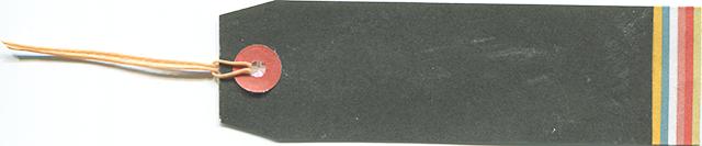 黒ベースのタグの無料素材 2