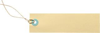 クリーム色のタグの無料素材