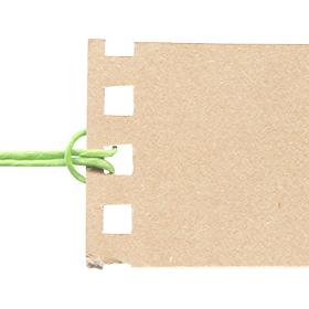 破れた紙のタグっぽい素材のサムネイル画像