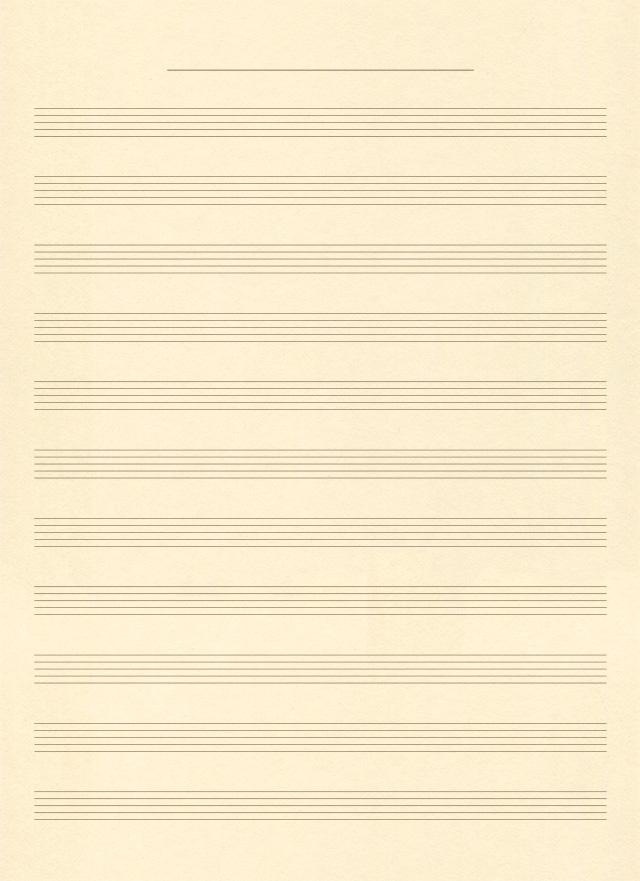 音楽の五線譜ノートの無料背景素材 2