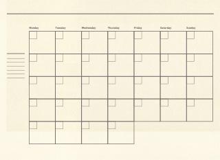 日付フリー版のスケジュールノートの無料素材 2