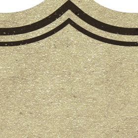 茶色のレトロ風フリーラベル素材のサムネイル画像