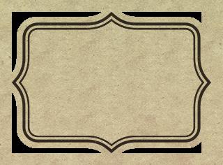 茶色のレトロ風フリーラベル素材