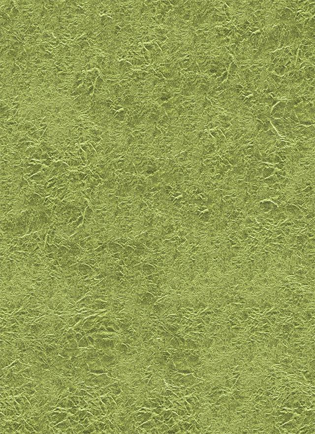 しわのある黄緑色の金紙のテクスチャ素材