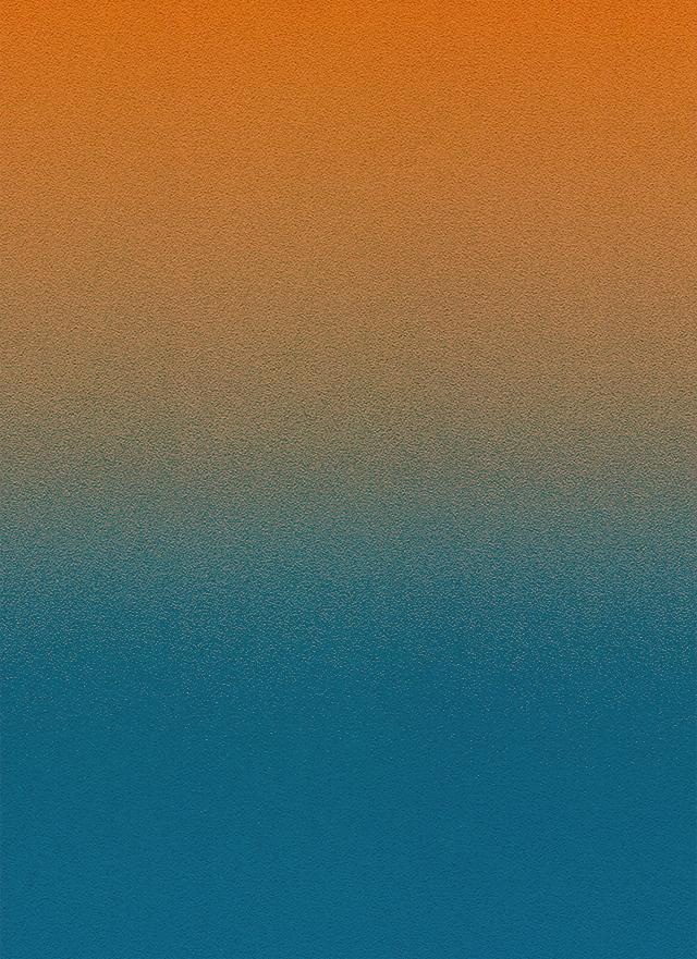 オレンジから青のざらざらしたグラデーション背景素材