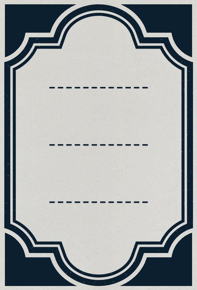 白ベースの縦長ラベル素材