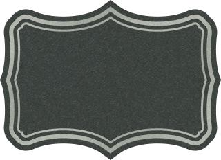 黒ベールのフリーラベル素材