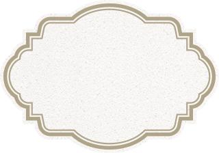 白のデラックスなラベル素材