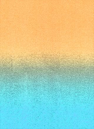黄色から青のざらざらテクスチャグラデーション背景