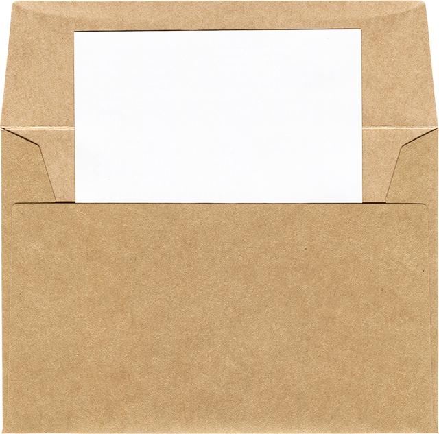 封筒から手紙でてる素材