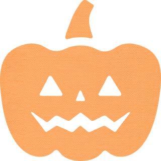 ハロウィンのかぼちゃのアイコン素材
