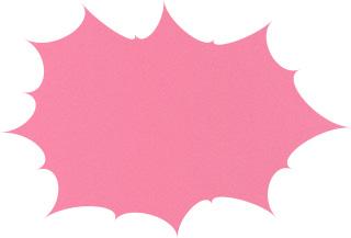 パンクしたフキダシの無料アイコン素材